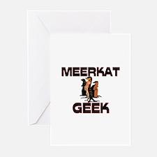 Meerkat Geek Greeting Cards (Pk of 10)