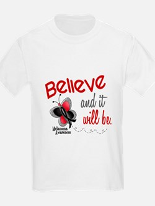 Believe 1 Butterfly 2 MELANOMA T-Shirt