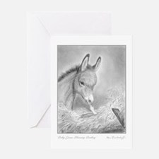 Jesus Blessing Donkey ~ One Holiday Greeting Card