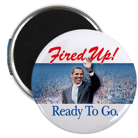 "Fired Up! 2.25"" Magnet (10 pack)"
