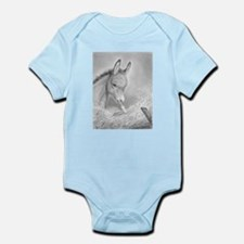 Baby Jesus Blessing Donkey ~ Infant Bodysuit