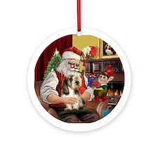 Santa's PBGV Ornament (Round)