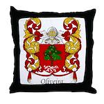 Oliveira Family Crest Throw Pillow
