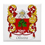 Oliveira Family Crest Tile Coaster
