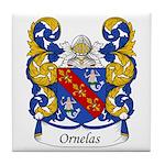 Ornelas Family Crest Tile Coaster