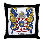 Ortiz Family Crest Throw Pillow
