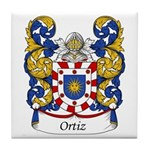 Ortiz Family Crest Tile Coaster