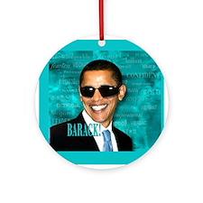 Obama Cool Ornament (Round)