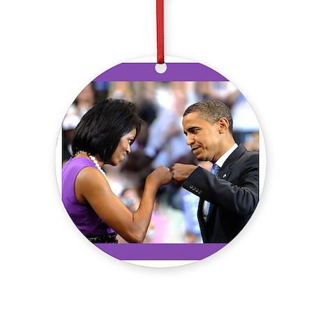 Obama Fist Bump Ornament (Round)