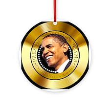 Obama Gold Seal Ornament (Round)