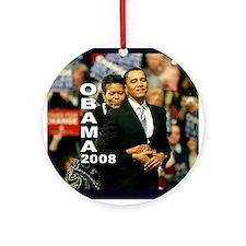 Obama Hug Ornament (Round)
