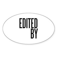 Film & Video Editor Oval Decal