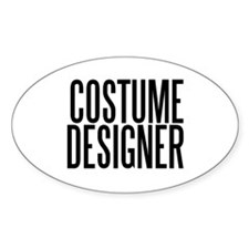 Costume Designer Oval Decal