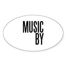 Movie Music Composer Oval Decal