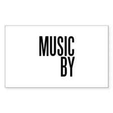Movie Music Composer Rectangle Decal