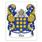 Paz Family Crest Small Poster