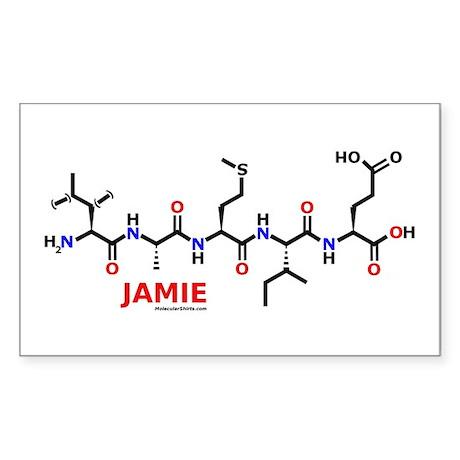 Jamie name molecule Rectangle Sticker