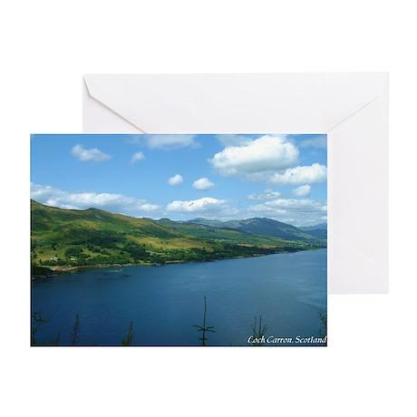Loch Carron Scotland Greeting Cards (Pk of 10)