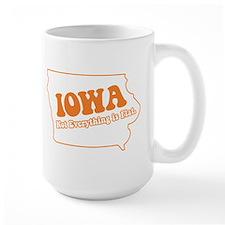 Flat Iowa State Mug
