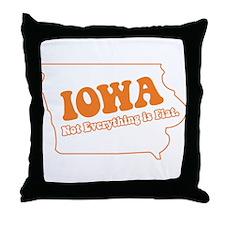 Flat Iowa State Throw Pillow