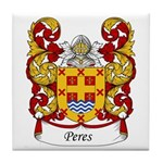 Peres Family Crest Tile Coaster