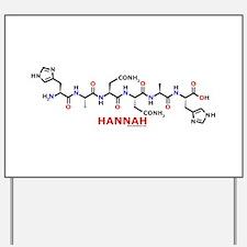 Hannah name molecule Yard Sign