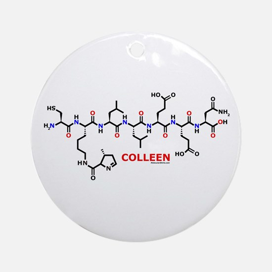 Colleen name molecule Ornament (Round)