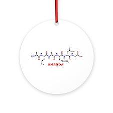 Amanda name molecule Ornament (Round)
