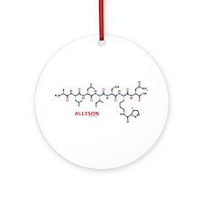 Allison name molecule Ornament (Round)