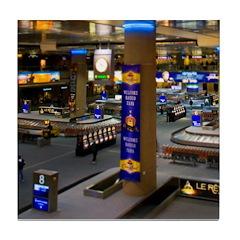 Vegas Airport Mini Tile Coaster