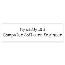 My Daddy is a Computer Softwa Bumper Bumper Sticker