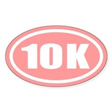 Pink 10 K Runner Oval Oval Decal