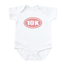Pink 10 K Runner Oval Infant Bodysuit