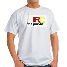 IRC Junkie Ash Grey T-Shirt