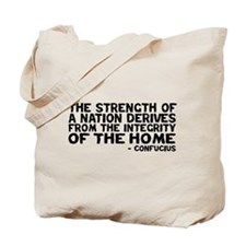 Confucius - Strenght of a Nation Tote Bag