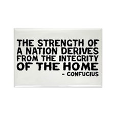 Confucius - Strenght of a Nation Rectangle Magnet
