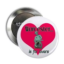 """Turtleboy Worcester is for Lovers 2.25"""" Button (10"""