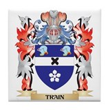 Train family crest Drink Coasters