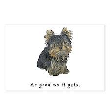 Good Yorkie Postcards (Package of 8)