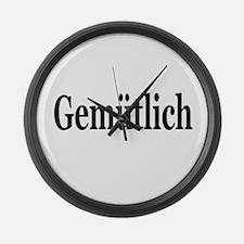 Gemutlich=Comfotable Large Wall Clock