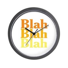 Blah Blah Blah Wall Clock