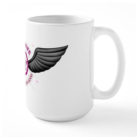 USAF Wife: Look Good Large Mug