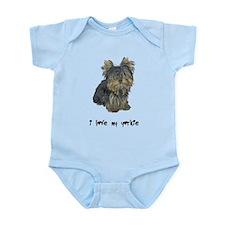 I Love My Yorkie Infant Bodysuit