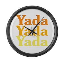 Yada Yada Yada Large Wall Clock