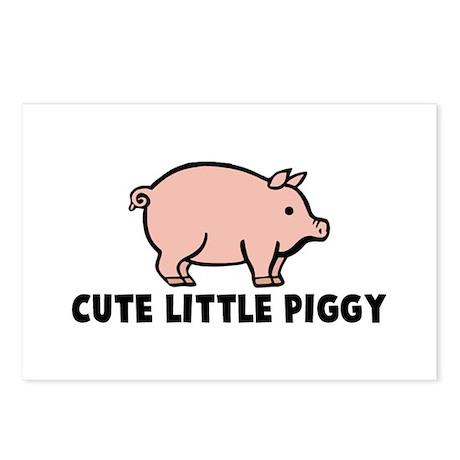 Cute Little Piggy Postcards (Package of 8)
