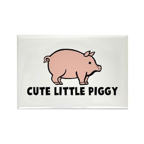 Cute Little Piggy Rectangle Magnet (10 pack)