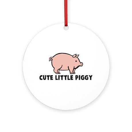 Cute Little Piggy Ornament (Round)
