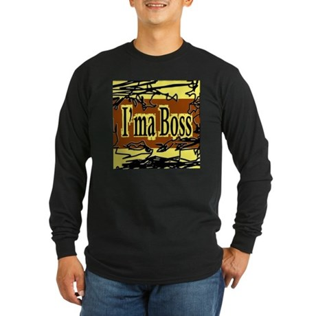 Yellow and Brown Collection Long Sleeve Dark T-S