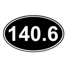 140.6 (Ironman Triathlon) Oval Decal