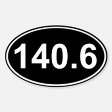 140.6 (Ironman Triathlon) Oval Decal